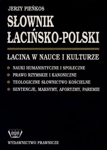 Słownik łacińsko Polski łacina W Nauce I Kulturze Nauki